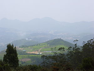 English: A view of Ooty from the Doddabetta peak.