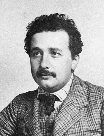 English: German-born theoretical physicist Alb...