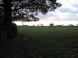 Farmland west of Allesley Green Arable land, n...