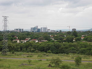 English: Skyline of Gaborone, Botswana