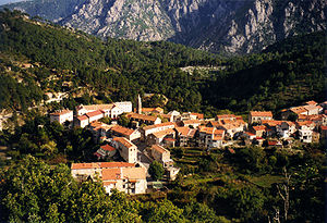 English: The town of Ghisoni, Corse, France.