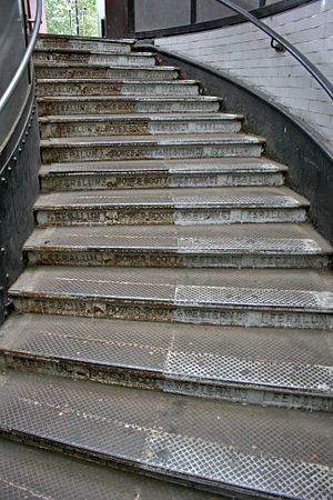 Steps at the north entrance of the Greenwich f...