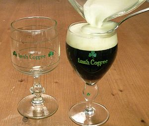 English: Irish Coffee glass
