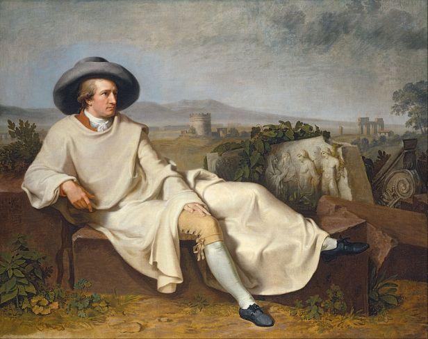 """""""Goethe in the Roman Campagna"""" by Johann Heinrich Wilhelm Tischbein"""