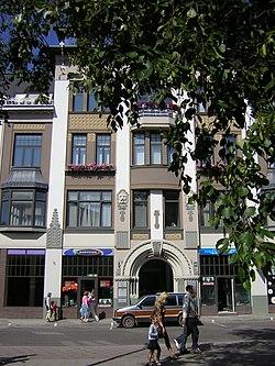 Art Nouveau architecture in Liepāja.