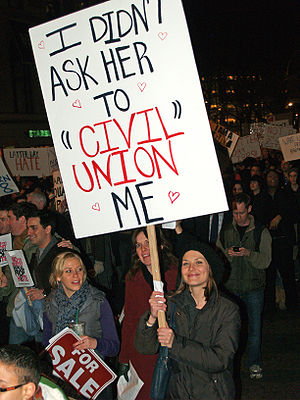 A woman makes her support of her marriage, and...