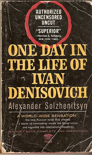 U.S. paperback cover of One Day in the Life of...