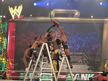 Image Result For Money In The Bank Ladder Match Wikipedia