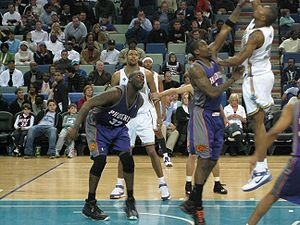 Shaquille O'Neall during the game Phoenix Suns...
