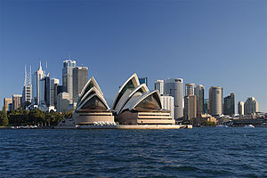 The Central Business District of Sydney, Austr...