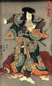 Lukisan aktor kabuki di abad ke-18