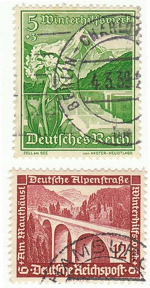 Briefmarken des Winterhilfswerks des deutschen...