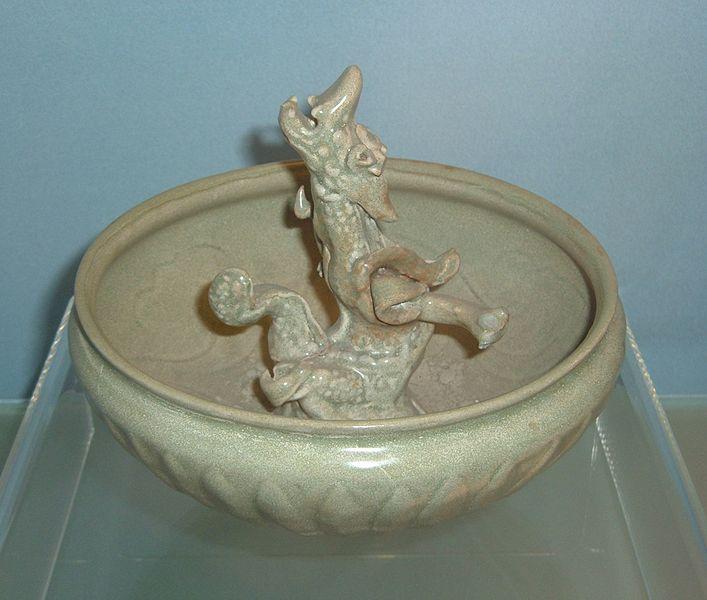 File:Yuan celadon bowl with modeled dragon design.JPG