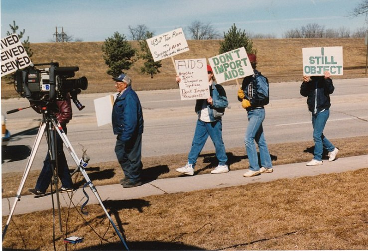 AIDS march 2 1990 aids protest Evansdale
