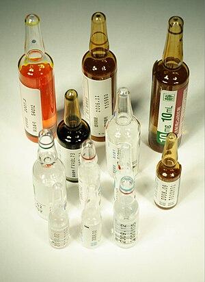 Modern drug ampoules