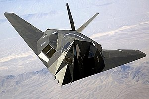 A US Air Force (USAF) F-117A Nighthawk Stealth...