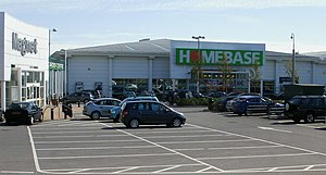 English: Homebase, Avenue Retail Park, Cardiff...
