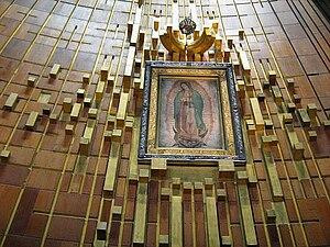 l'immagine originale della Madonna di Guadalupe.