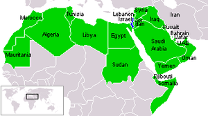 Israel and Arab states map n