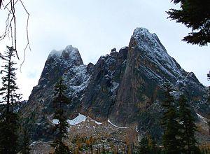 English: Liberty Bell Mountain, from Washingto...