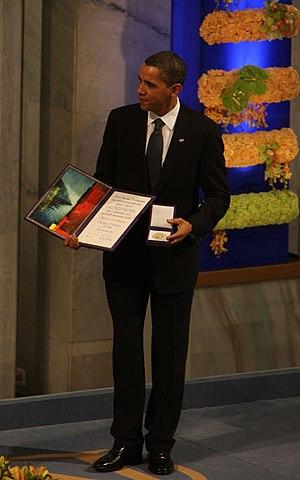 English: Nobel Peace Prize 2009, Barack Obama