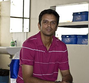 Indian cricketer Rahul Dravid