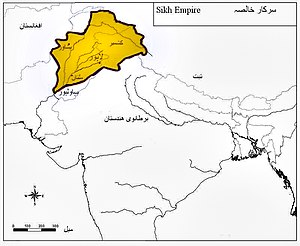 English: Boundaries of Maharaja Ranjit Singh