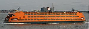 The Staten Island Ferry provides travel betwee...