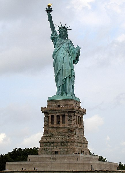 Liberty Enlightening the World; French: La Liberté éclairant le monde - Wikimedia Commons image