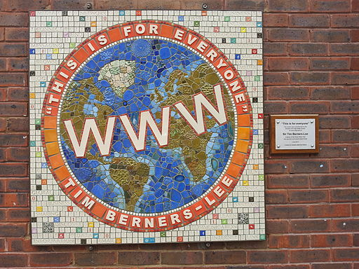 Tim Berners-Lee- Mosaic by Sue Edkins at Sheen Lane Centre