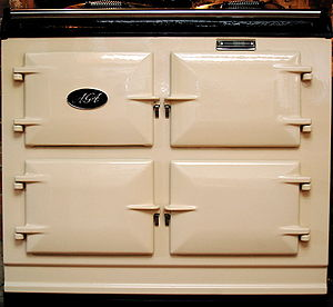 English: Front of a 2006 Aga GC3 in cream.