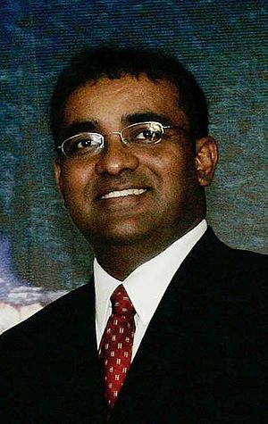 Português: Bharrat Jagdeo, presidente da Guian...
