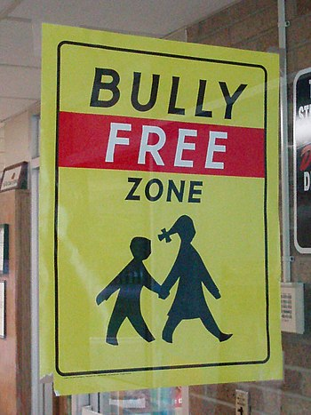 A Bully Free Zone sign - School in Be...