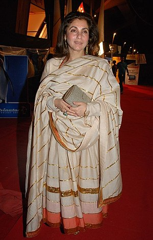 English: Bollywood actress Dimple Kapadia duri...