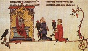 English: Frederick II, Holy Roman Emperor in L...