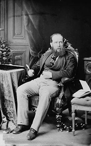 English: Joseph Trutch, June 1870. Photo by Wi...