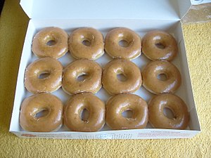 A photo of 12 Original Glazed doughnuts from K...