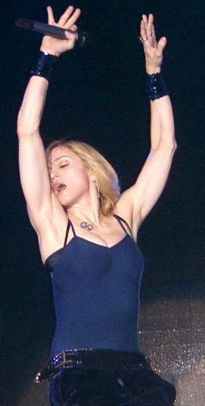 Madonna on the festival in Coachella in 2006 E...