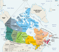 Canada – geopolitical Drawn and adapted b...