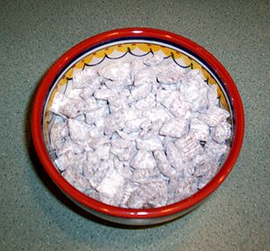 Puppy chow snack