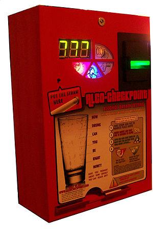 English: Breathalyzer Vending Machine by Alco-...
