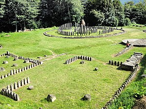 English: Temples at Sarmizegetusa Regia, Romania