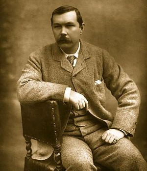 Photograph of Arthur Conan Doyle, seated sidew...