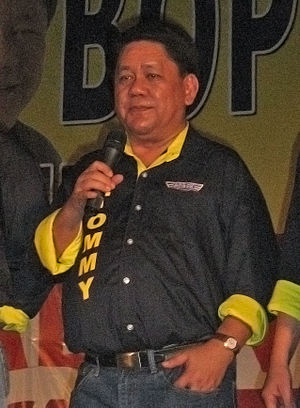 Cebu City Mayor Tomas Osmeña at a campaign ral...
