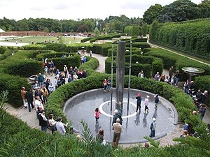 Water feature at Alnwick Garden.