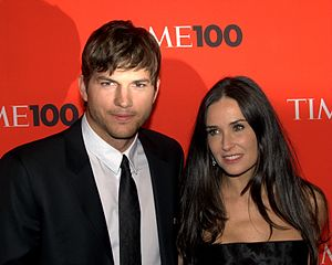 English: Ashton Kutcher and Demi Moore at the ...