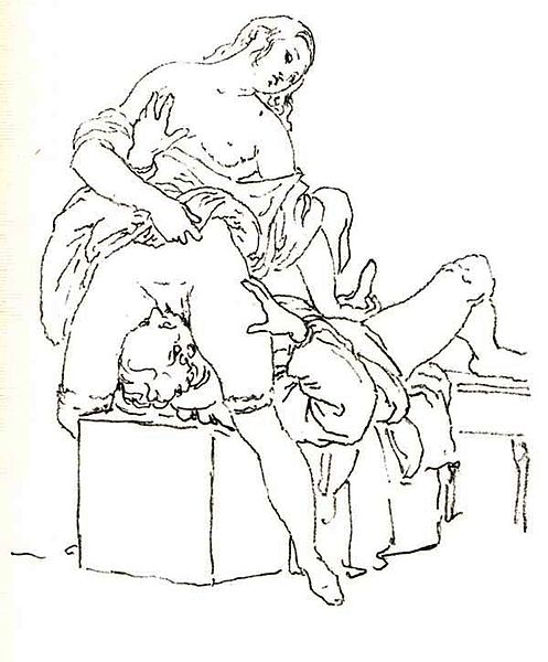 Queening, as drawn by Francesco Hayez