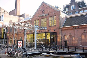 The main entrance of the Melkweg