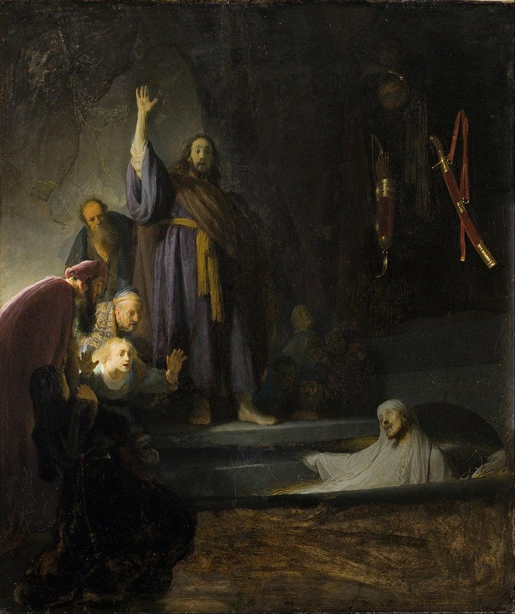 The raising of lazarus rembrandt
