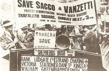 Protest to save Sacco and Vanzetti in London, ...